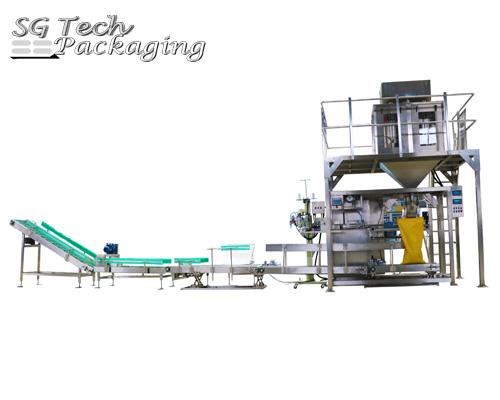Línea de unidades de máquinas envasadoras semi-automáticas de bolsas grandes SGJ-ZX