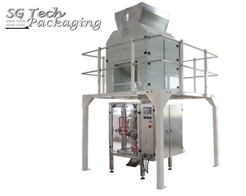 Unidad de máquina envasadora automática vertical de líquidos