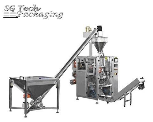 Unidad de máquina envasadora automática vertical de polvos