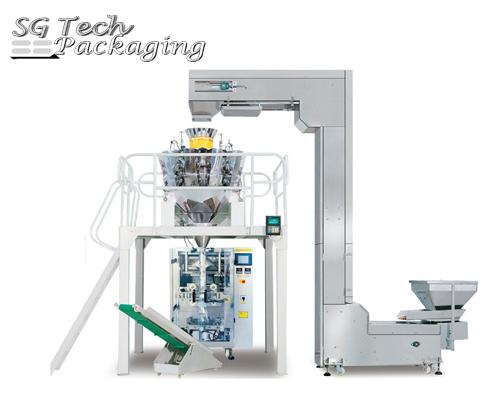 Unidad de máquina envasadora automática vertical de gránulos